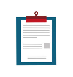 Checklist document sheet vector