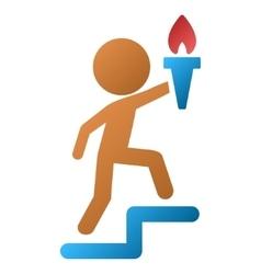 Child leader gradient icon vector