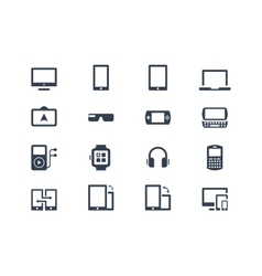 Device icons Gadgets vector image