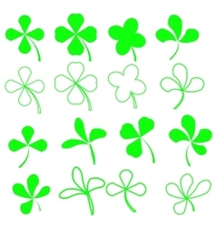 Green Shamrocks vector image vector image