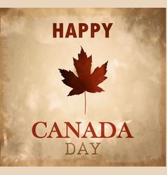 happy canada day retro card in format vector image