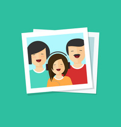 happy family photo flat vector image
