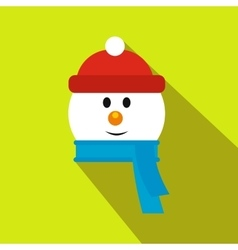 Head of snowman flat icon vector image