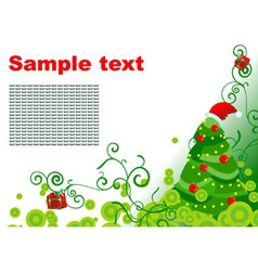 hollyday christmas tree card vector image vector image