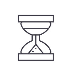 hourglass line icon sign on vector image
