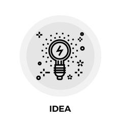 Idea Line Icon vector image vector image