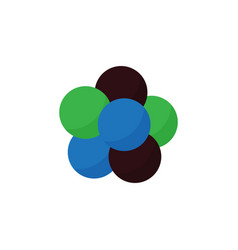 Isolated nuclear flat icon proton element vector