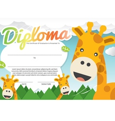 Kids Diploma Certificate Template vector image