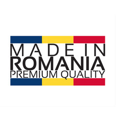 made in romania icon premium quality sticker with vector image