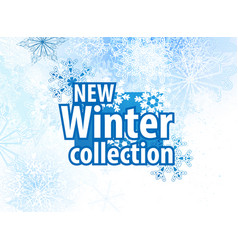 new winter collections advertising design vector image vector image