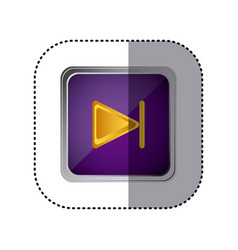 purple emblem forward button vector image vector image