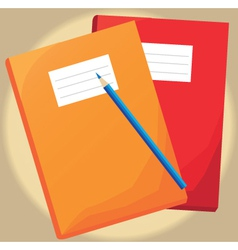 Writing journals vector image