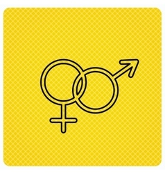 Male and female icon traditional sexuality sign vector