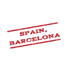 Spain barcelona watermark stamp vector