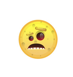 yellow smiling face disappointed negative people vector image
