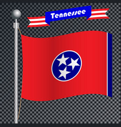 National flag of tennessee vector