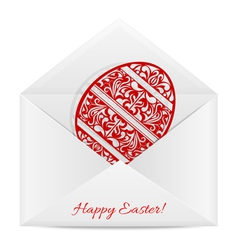 Paper envelope with a symbol of easter vector