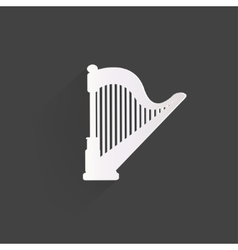 Harp icon Msic instruments vector image