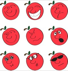 Apple smilies vector