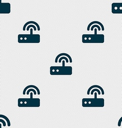 Wi fi router icon sign seamless pattern with vector