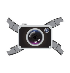 Hipster retro photo camera vector