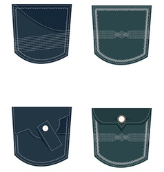 Back pocket set vector