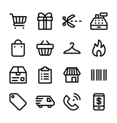 Crisp marketplace icons vector