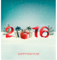 Happy new year 2016 new year design template vector