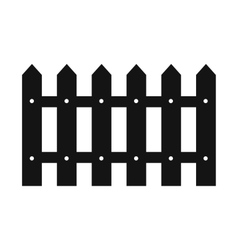 Fence black simple icon vector