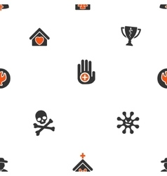 Soul and death seamless flat wallpaper vector