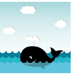 Smiling Whale vector image