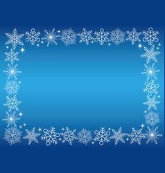 a snow crystal rectangular frame vector image vector image