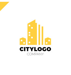 abstract city building logo design concept symbol vector image vector image