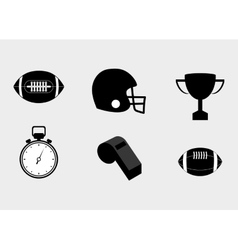 American football equipment vector
