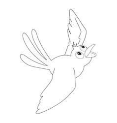 Animal outline for bird flying vector