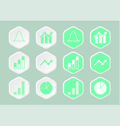 Bell curve infographic icon vector