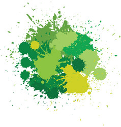 Blots in green tones vector