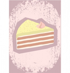 cake poster vector image