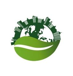 Eco green city vector