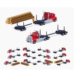 Empty log truck vector