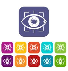 eye icons set flat vector image vector image