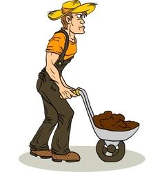 Farmer vector image