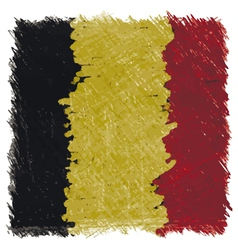 Flag of Belgium handmade square shape vector image vector image