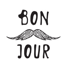 hand drawn old fashion mustaches vector image