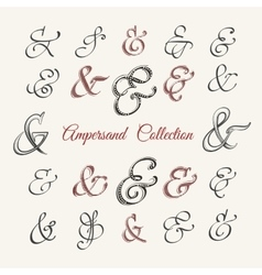 Handdrawn Ampersand Collection vector image