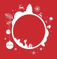 Holiday frame design vector