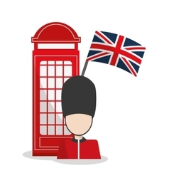 Isolated Telephone and soldat design vector image