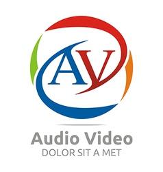 Letter av consulting icon business vector