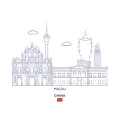 Macau city skyline vector