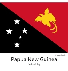 National flag of papua new guinea with correct vector
